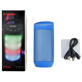 Speaker Bluetooth LED dengan FM Radio - BT809L - Black - 8