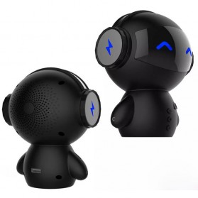 Bluetooth Speaker Komputer / Laptop - 2 in 1 Speaker Bluetooth Portable + Power Bank Model Robot - M10 - Black
