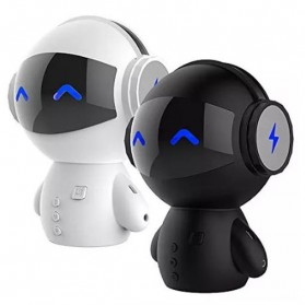 2 in 1 Speaker Bluetooth Portable + Power Bank Model Robot - M10 - Black - 2