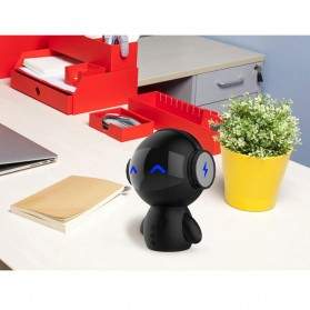 2 in 1 Speaker Bluetooth Portable + Power Bank Model Robot - M10 - Black - 5