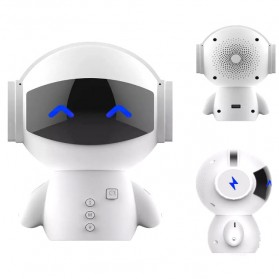 DINGDANG 2 in 1 Speaker Bluetooth Portable + Power Bank Model Robot - M10 - White