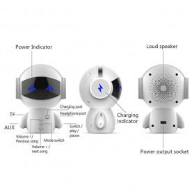 DINGDANG 2 in 1 Speaker Bluetooth Portable + Power Bank Model Robot - M10 - White - 4
