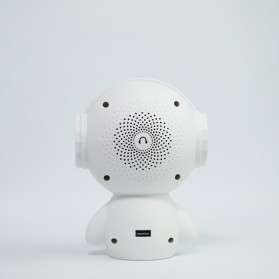DINGDANG 2 in 1 Speaker Bluetooth Portable + Power Bank Model Robot - M10 - White - 8