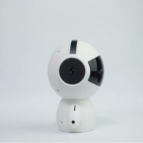 DINGDANG 2 in 1 Speaker Bluetooth Portable + Power Bank Model Robot - M10 - White - 9