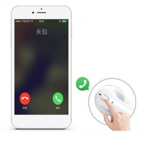 Mini Bluetooth Earphone with Charging Case - White - 5