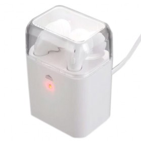 Mini Bluetooth Earphone with Charging Case - White - 6