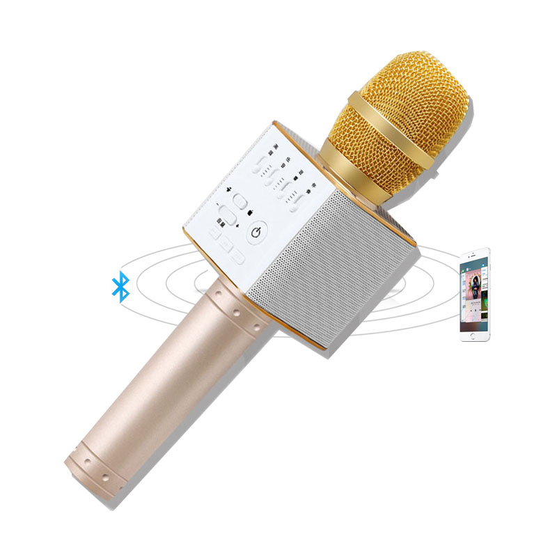 magic karaoke mikrofon dan speaker bluetooth q9 black. Black Bedroom Furniture Sets. Home Design Ideas