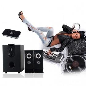 VIKEFON Wireless 2 in 1 HiFi Audio Bluetooth Transmitter & Receiver 3.5mm - B6 - Black - 3