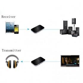 VIKEFON Wireless 2 in 1 HiFi Audio Bluetooth Transmitter & Receiver 3.5mm - B6 - Black - 5
