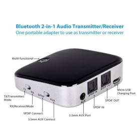HiFi Audio Bluetooth Transmitter & Receiver 3.5mm SPDIF - SK-BTI-029 - Black - 7