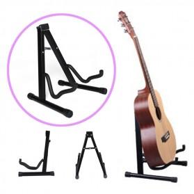 Stand Gitar Shape A Foldable - Black - 1
