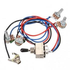Wiring Harness Toggle Switch Gitar 2V/2T 3 Way - Silver