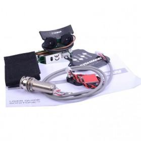 FISHMAN Gitar Pickup System dengan Onboard Preamp System - VT1 - Black - 2