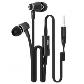 Langsdom Stereo Super Bass Earphone dengan Mic - JM21 - Black
