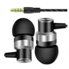 HEADSET Super Bass HiFi Stereo Earphone Sporty - JL-032 / ASG-K02 / JL-034 - Black