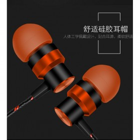 HEADSET Super Bass HiFi Stereo Earphone Sporty - JL-032 / ASG-K02 / JL-034 - Black - 3