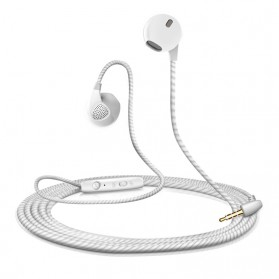 Braime Earpods Earphones Extra Bass - S10 - White