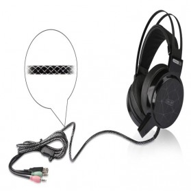 Salar C13 Pro Gaming Headset RGB LED Light - C13 - Black - 6