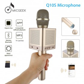MicGeek Mic Karaoke Speaker Bluetooth - Q10S - Golden