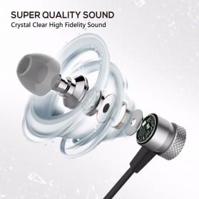 Earphone Bluetooth Sport Bass dengan Microphone - H6 - Black - 4