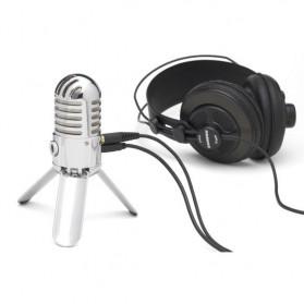 Samson Meteor Microphone Kondenser Studio - Silver - 4