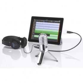 Samson Meteor Microphone Kondenser Studio - Silver - 5