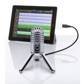 Samson Meteor Microphone Kondenser Studio - Silver - 6