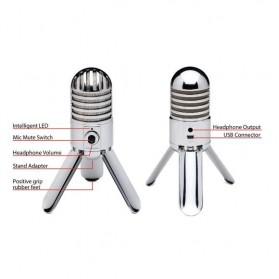 Samson Meteor Microphone Kondenser Studio - Silver - 7