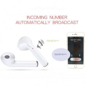 i7TWS Wireless Earphone Bluetooth 4.2 (Binaural) 1 Pasang - Black - 7