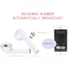 i7TWS Wireless Earphone Bluetooth 4.2 (Binaural) 1 Pasang - White - 7