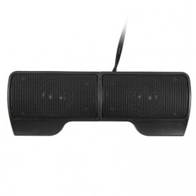 Speaker Stereo Mini Clip On Portable - Black