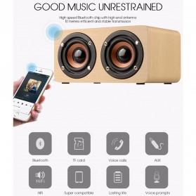 ANSUOFU Desktop Bluetooth Speaker Stereo Subwoofer - W5 - Black - 3