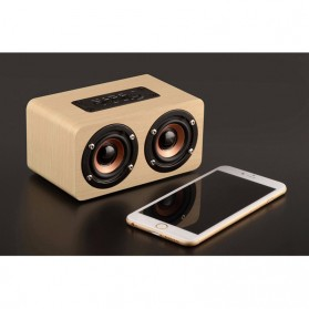 ANSUOFU Desktop Bluetooth Speaker Stereo Subwoofer - W5 - Black - 6