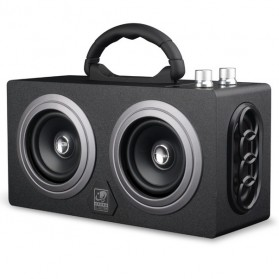 Boombox HiFi Bluetooth Loudspeaker Stereo High Power 20W - M8 - Black