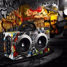 Boombox HiFi Bluetooth Loudspeaker Stereo High Power 20W - M8 - Black - 2