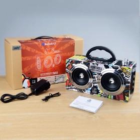 Boombox HiFi Bluetooth Loudspeaker Stereo High Power 20W - M8 - Black - 6