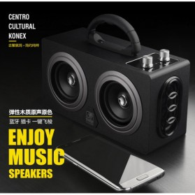 Boombox HiFi Bluetooth Loudspeaker Stereo High Power 20W - M8 - Black - 7
