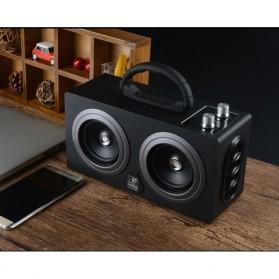 Boombox HiFi Bluetooth Loudspeaker Stereo High Power 20W - M8 - Black - 10