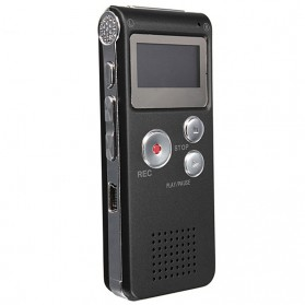 Perekam Suara Digital Voice Recorder 8GB - R29 - Black