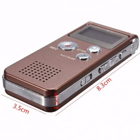 Perekam Suara Digital Voice Recorder 8GB - R29 - Black - 8