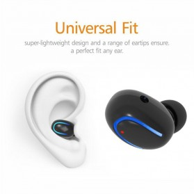 Micro Sport Bluetooth Earphone - Mini Q13 - Black - 2