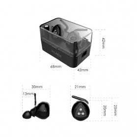 SYLLABLE D900MINI True Wireless Bluetooth Earphone with Charging Dock - Black - 5