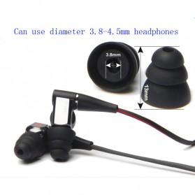 Universal Eartip IEM Triple Flange 3 Pasang Size M - CP100 - Black - 3