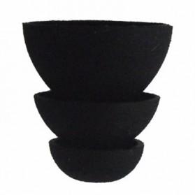 Universal Eartip IEM Triple Flange 3 Pasang Size M - CP100 - Black - 5