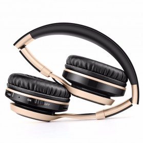 Picun BT08 Bluetooth Headphone with FM Radio - Black Gold - 2
