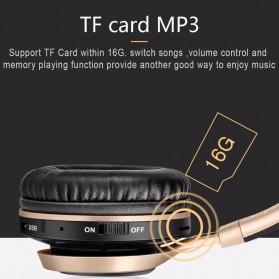 Picun BT08 Bluetooth Headphone with FM Radio - Black Gold - 6