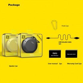 MIFA Waterproof Bluetooth Speaker with Carabiner - F10 - Black - 4