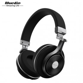 Bluedio T3 Turbine 3D Wireless Bluetooth Headphone - Black
