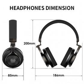 Bluedio T3 Turbine 3D Wireless Bluetooth Headphone - Black - 2