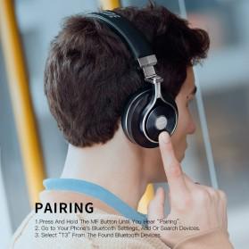 Bluedio T3 Turbine 3D Wireless Bluetooth Headphone - Black - 4